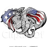 1089047-Clipart-Republican-And-Democratic-Donkey-And-Elephant-Butting-Heads-Royalty-Free-Vector-Illustration